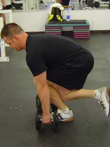 Single leg dumbbell dead lift exercise for pitchers image