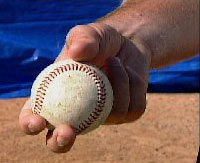 Two seam fastball grip