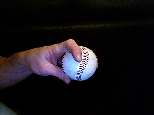 Forkball pitching grips